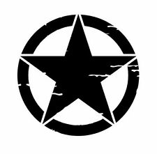 Pegatina Adhesivo Sticker Estrella Jeep Renegade 40 CMS militar star Jeep renega