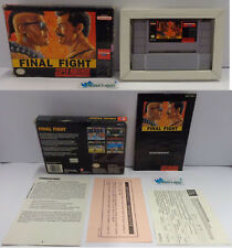 Console Game Gioco SUPER NINTENDO SNES 16 BIT Play NTSC USA Capcom - FINAL FIGHT