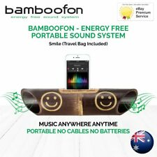 BambooFon - Energy Free Portable Sound System - Smile (Travel Bag Included)