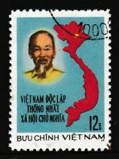 12xu, NORTH VIETNAM 'Ho Chi Minh & Map' Stamp, issued 1976 - Used / Fine