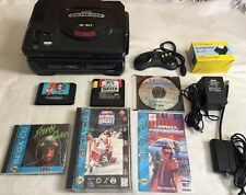 ☆ Sega Genesis Console & Sega CD (Model 1) Bundle W/ 5 Games Lot - Works ☆