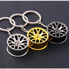 2017New Creative Wheel Hub Rim Model Man's Keychain Car Key Chain Cool Gift Hot