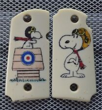 060 Micro 9mm For Kimber Frames Scrimshawed Snoopy & The Red baron IP Grips!