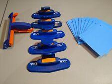 Lot of 5 Fiskars Border Edge Paper Punch 11 Texture Plates + Roller Crimper