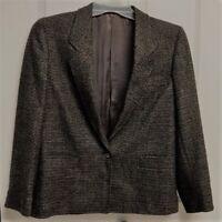 Yorkstreet Wool Blazer Size 6 Brown Twill