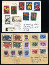 LUXEMBOURG 1956/59 3 GOOD COVERS