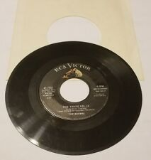 THE BROWNS HEAVEN FELL LAST NIGHT / THE THREE BELLS 45 RPM ORIGINAL EXCELLENT