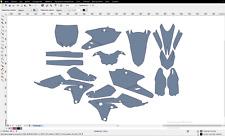 YAMAHA YZF 250 16-2018 Motocross templates. Ready for designing. 100% Full size.