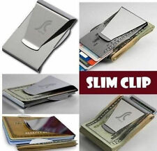 Double Sided Slim Clip  Money Clip Credit Card Holder Wallet New Stainless Steel