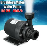 800L/H Lift 5M Quiet DC 12V Solar Brushless Motor Water Circulation Water