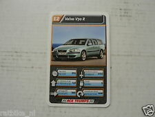 43-LUXURY CARS/AUTO E2 VOLVO V70 R KWARTET KAART, QUARTETT CARD,