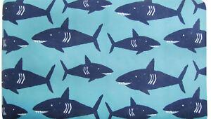 """Pillowfort Shark Bath Mat Skid Resistant Suction Cups 15.5"""" x 27"""""""
