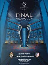 Programma UEFA FINALE CL 2016 Atletico Madrid-Real Madrid