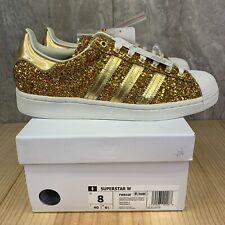 adidas superstar metallic gold white honeycomb web