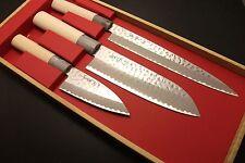 Japanese Chef's Kitchen Knife Set SEKI TOBEI Yanagiba Santoku Deba Made in Japan