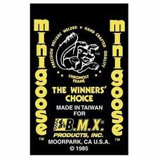 1985 Minigoose Mongoose decal set