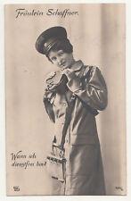 AK donna in uniforme signorina Schaffner 1915! ww1 (a2300
