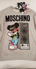 H&M Moschino Mickey Mouse Disney HM Sweatshirt Grey Small S Sweater H&Moschino