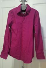 Express Mens 1MX Fitted Long Sleeve Shirt - Size S 14 - 14-1/2 - Pink