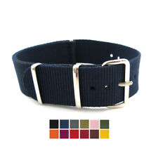 NEW NATO STRAP many SIZES and COLOURS available -  nylon fabric Band - UK stock