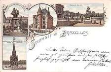 Bruxelles Belgium Scenic Views Antique Postcard J39701