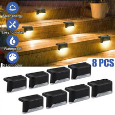 More details for 8 outdoor solar led deck lights path garden patio pathway stairs step fence lamp