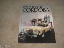 1979 Chrysler Cordoba sales brochure dealer literature