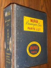 1953 & PRIOR  DODGE CHRYSLER PLYMOUTH DESOTO PARTS CATALOG / ORIG BOOK! 53 52 51
