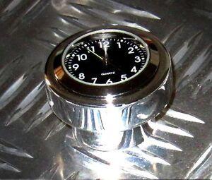"""New British Made Harley Springer® """"Smooth"""" Billet Stem Nut Clock"""