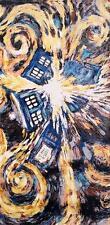 Doctor Who Van Gogh Exploding Tardis Pandorica Bath Beach Towel 60x30 inches BBC