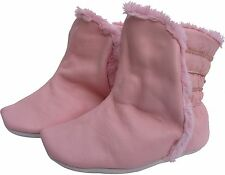 carozoo booties pink 18-24m S new soft sole leather baby shoes