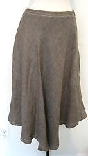 STUNNING MAXMARA Brown Flowing Designer Linen Skirt Size 2