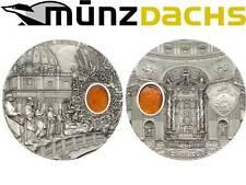 $10 Mineral Art Amber St. Peters Basilica Vatican Palau 2 oz fine Silver 2013