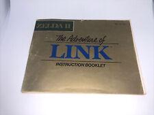 Zelda II 2 Adventure of Link Instruction Manual Booklet Nintendo Nes Authentic
