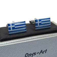 Griego Grecia Bandera Gemelos Nuevo en Caja ck165
