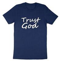 Unisex Tee T-shirt Print Shirts Trust God Positive Trust