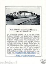 Eisenbau ponts Rüter XL la publicité de 1922 Langenhagen Hanovre Rueter AD