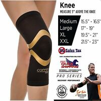 Knee Support Copper Fit Compression Sleeve Copper-Infused Fit Arthritis S M L XL