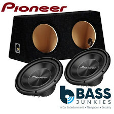 "2 x Pioneer TS-A300S4 12"" 3000 WATTS Single Voice Car Sub Subwoofer & Bass Box"