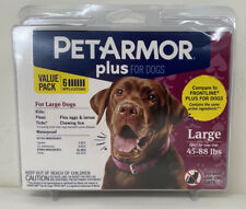 PetArmor Plus for Dogs Large L 45-88 lbs. Kills Fleas Ticks Lice 6-Pack - NEW