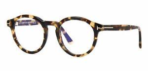 Tom Ford Eyeglasses FT5529B 055 48 Blue Block Blonde Havana (055) Optical Frame