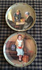 Norman Rockwell ~ Rockwell's American Dream Set of 2 Collector Plates