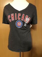 Women's Old Navy 5th & Ocean Chicago Cubs Logo Gray T-shirt Size XXL 2X New