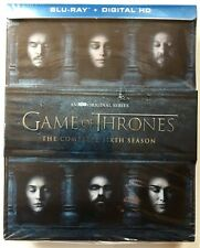 GAME OF THRONES COMPLETE SIXTH SEASON BLU RAY 4 DISC SET + LENTICULAR SLIPCOVER