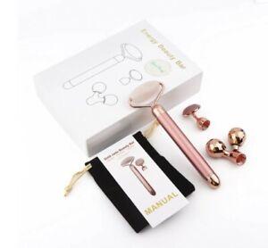 Grace Beauty Gemstone 3-in-1 Electric Face Body Massage Roller Beauty Tool