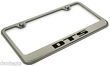 Cadillac DTS Logo Bright Mirror Chrome License Plate Frame Tag - Stainless Steel