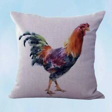 US Seller-farmhouse animal rooster chicken cushion cover interior home decoratio