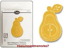 Sizzix Embosslits PEAR 657238 FRUIT HOLIDAY  Die RETIRED HTF