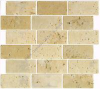 Peel Stick Wall Tile Kitchen Bathroom Backsplash Natural Beige Stone Travertine