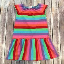 Girl's HANNA ANDERSSON Multi-Color Striped Dress SIZE 120 (U.S. 6-7) K88